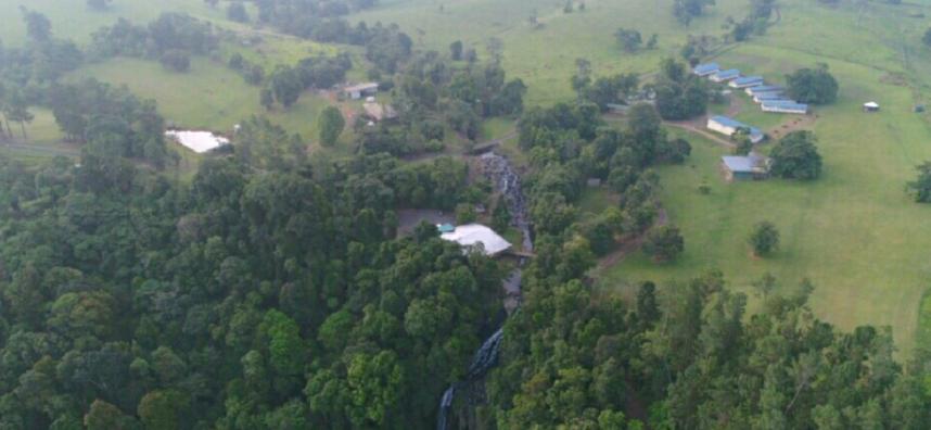 View of Mungali Falls village