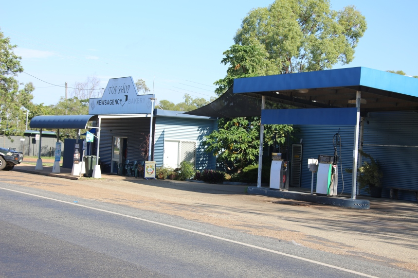 Newsagency and Petrol station at the top end of the town